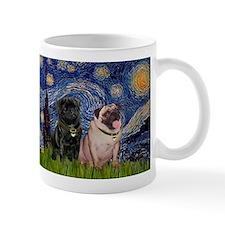 Starry Night & Pug Pair Mug