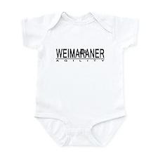 Weimaraner Agility Baby Bodysuit