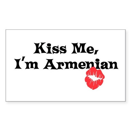 Kiss Me, I'm Armenian Rectangle Sticker