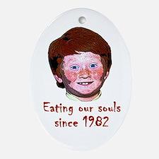 Soul Eating Ginger Oval Ornament