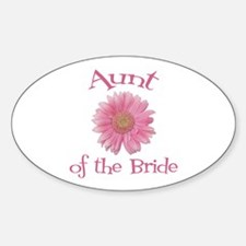 Daisy Bride's Aunt Oval Decal