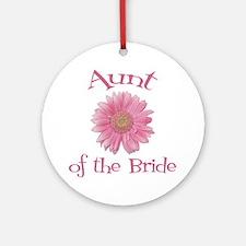 Daisy Bride's Aunt Ornament (Round)