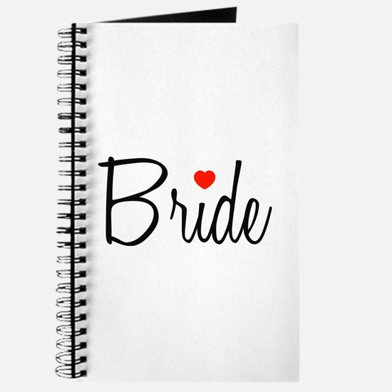 Bride (Black Script With Heart) Journal
