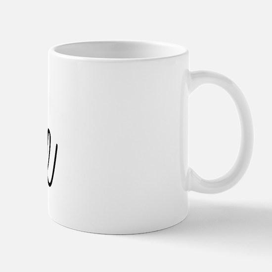 Bride (Black Script With Heart) Mug