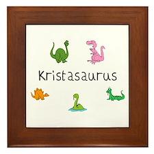 Kristaosaurus Framed Tile