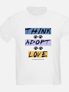 Think Adopt Love T-Shirt