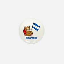 Nicaragua Teddy Bear Mini Button (100 pack)