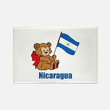 Nicaragua Teddy Bear Rectangle Magnet
