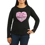 Love One Another Women's Long Sleeve Dark T-Shirt
