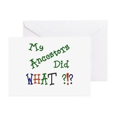 Did What? (green) Greeting Cards (Pk of 10)