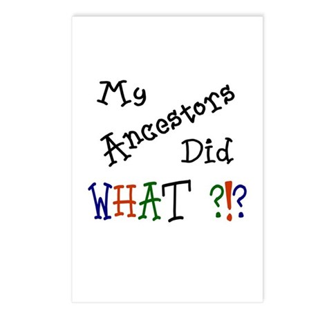 Did What? (black) Postcards (Package of 8)