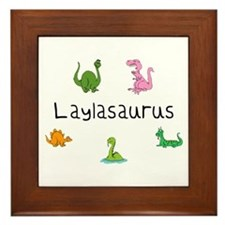 Laylaosaurus Framed Tile