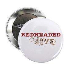 "Redheaded Irish Diva 2.25"" Button"