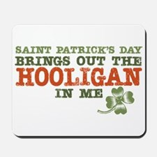 St Patrick's Day Hooligan Mousepad