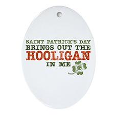 St Patrick's Day Hooligan Oval Ornament