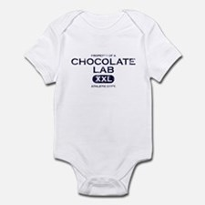 Property of Chocolate Lab Baby Bodysuit