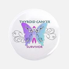 """Thyroid Cancer Survivor 3.5"""" Button"""