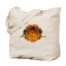 Round Flame Firefighter Tote Bag