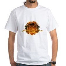 Round Flame Firefighter Shirt
