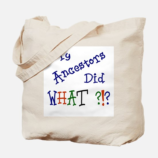 Did What? (blue) Tote Bag