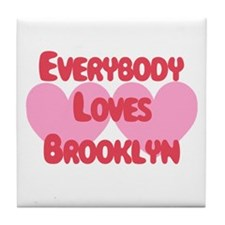 Everybody Loves Brooklyn Tile Coaster