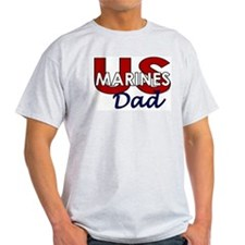 US Marines Dad Ash Grey T-Shirt