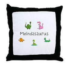 Melindaosaurus Throw Pillow