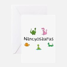 Nancyosaurus Greeting Card
