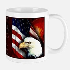 Patriotic Bald Eagle In Space - Mug