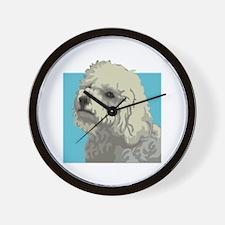 Bolognese dog Wall Clock