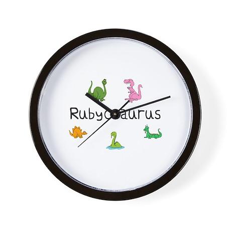 Rubyosaurus Wall Clock