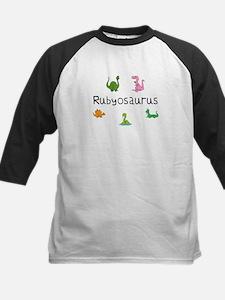 Rubyosaurus Kids Baseball Jersey