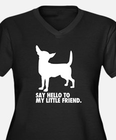 Chihuahua Women's Plus Size V-Neck Dark T-Shirt