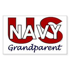 US Navy Grandparent Rectangle Decal