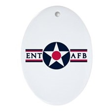 Ent Air Force Base Oval Ornament