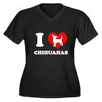 I love chihuahuas Women's Plus Size V-Neck Dark T-