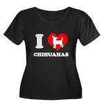 I love chihuahuas Women's Plus Size Scoop Neck Dar