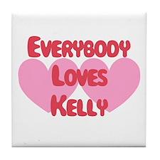 Everybody Loves Kelly Tile Coaster