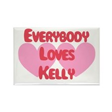 Everybody Loves Kelly Rectangle Magnet