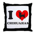 I love chihuahuas Throw Pillow