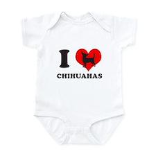 I love chihuahuas Infant Bodysuit