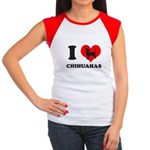 I love chihuahuas Women's Cap Sleeve T-Shirt