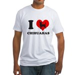 I love chihuahuas Fitted T-Shirt