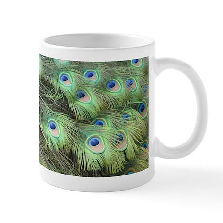 Helaine's Peacock Feathers Mug