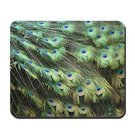 Helaine's Peacock Feathers Mousepad