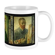 Vincent Van Gogh Self Portraits - Small Mugs