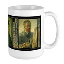 Vincent Van Gogh Self Portraits - Ceramic Mugs