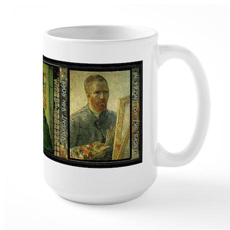 Vincent Van Gogh Self Portraits - Large Mug