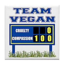 Team Vegan Tile Coaster