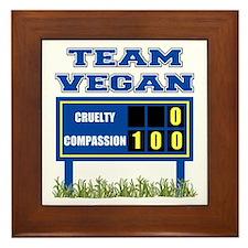 Team Vegan Framed Tile